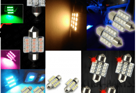 LED Roof/Map/Dome/Trunk Lights (6 Colors)