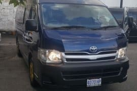 16 seater hiace bus for charter/rental