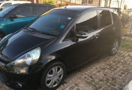 Black 2008 Honda Fit