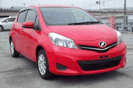 Red 2012 Toyota Vitz