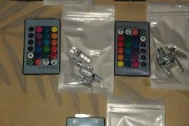 Led REMOTE CONTROLLED park light 4 bulb to one REM